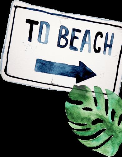 ビーチの看板
